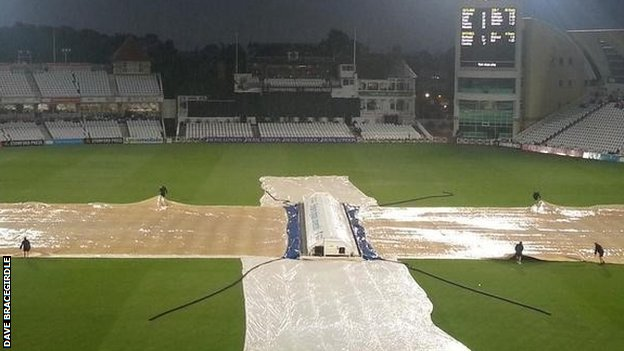 Heavy rain forced a no result at Trent Bridge