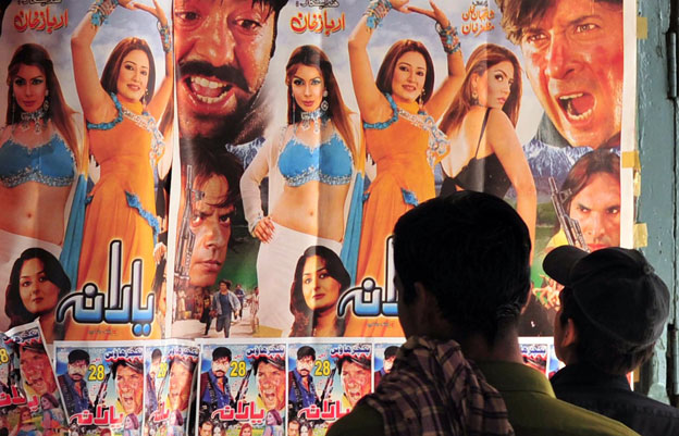Cinema posters in Peshawar