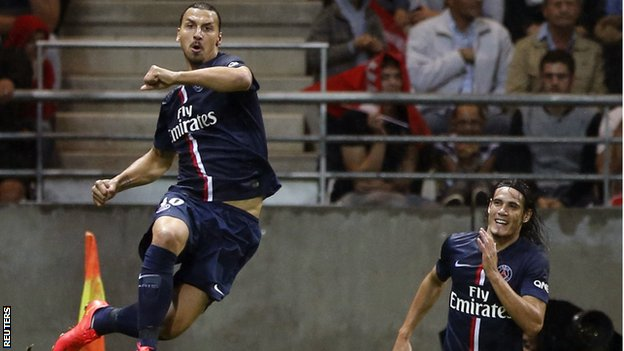 Ibrahimovic saves defending champion PSG in Ligue 1 opener against Reims