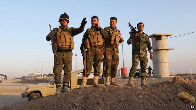 Kurdish forces near Irbil. 8 Aug 2014