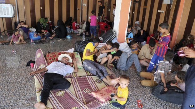 Displaced Iraqis in the town of Kalak, Iraq. 7 Aug 2014