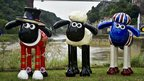 Shaun the Sheep sculptures