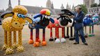 Nick Park and Shaun the Sheep sculptures