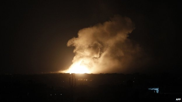 Israeli air strike in Rafah (9 August 2014)