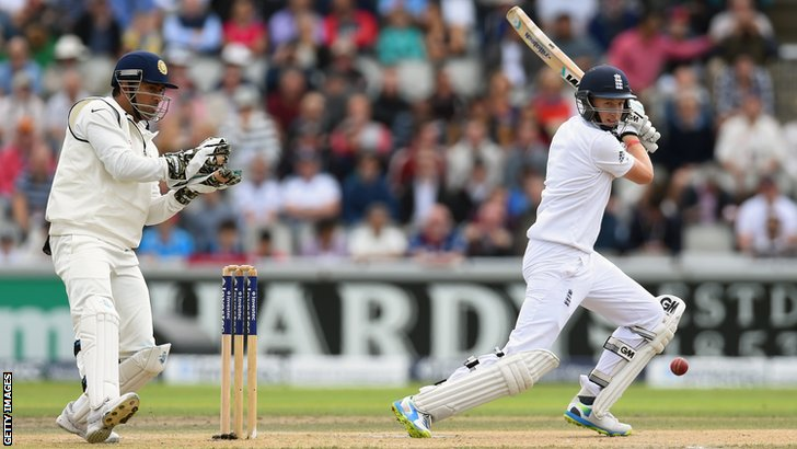 England's Joe Root hits out