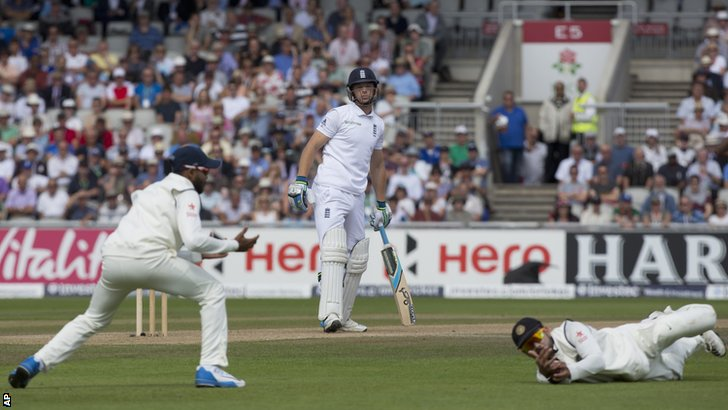 England's Jos Buttler is dropped