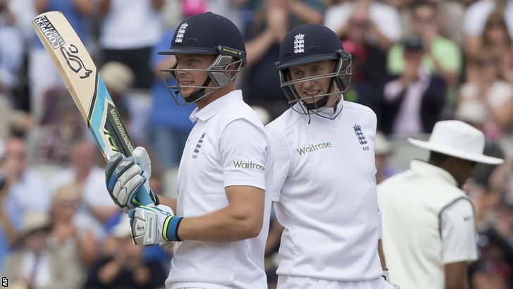 England's Jos Buttler and Joe Root