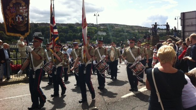 Thousands are taking part in the Apprentice Boys parade in Derry