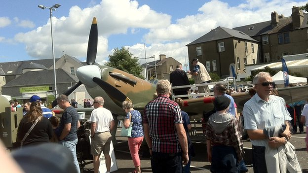 The air show is attracting a huge crowd of people to Newcastle, County Down