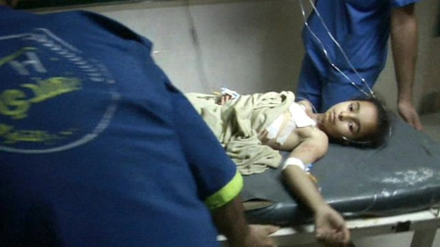 Child in Gaza hospital
