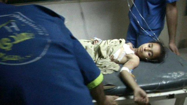 BBC News - Gaza air strikes 'kill five' as rockets hit Israel