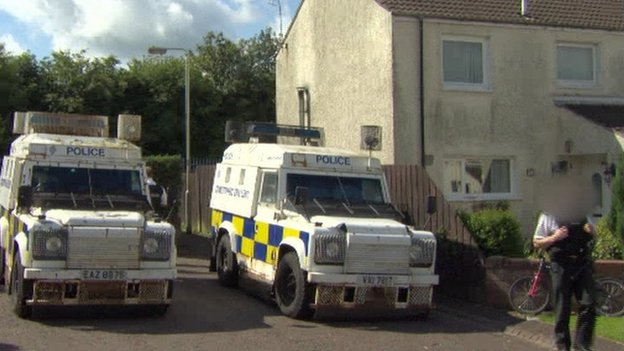 The police carried out a search operation in the area on Saturday