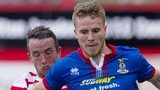Inverness' Marley Watkins (right) holds off Hamilton's Dougie Imrie.