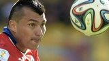 Gary Medel in action for Chile against Brazil at the World Cup