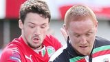 Tomas Cosgrove of Cliftonville and Stephen McAlorum of Glentoran