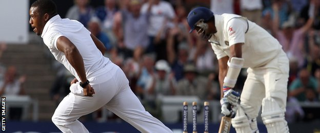 England's Chris Jordan bowls India's Pankaj Singh
