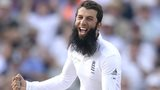 England's Moeen Ali celebrates at Old Trafford