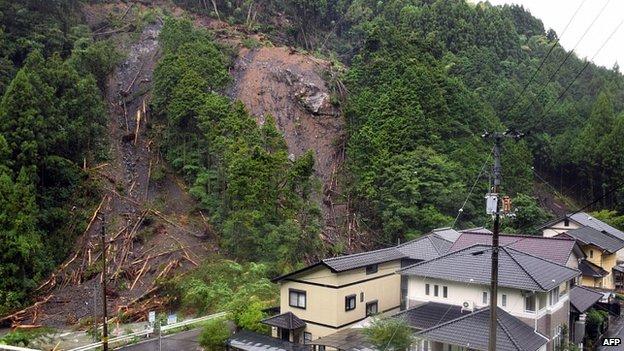 Landslide in Kochi, Japan. 9 Aug 2014