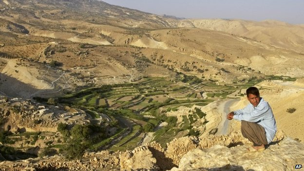 Yazidi man on Mount Sinjar