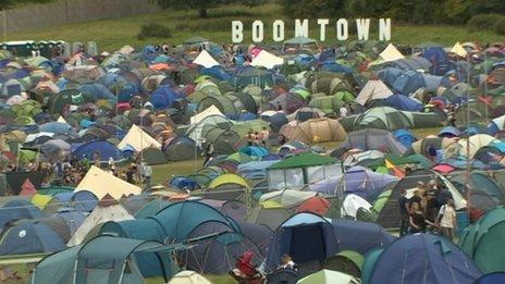 Boomtown campsite 2013