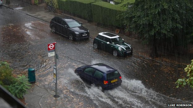 Flooding in Queen's Park, London