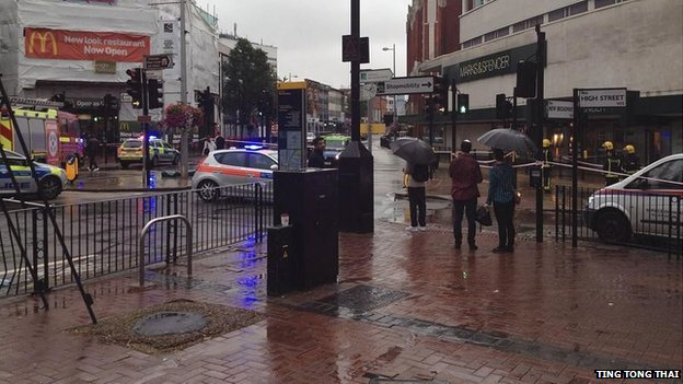 Emergency services at Ealing Broadway