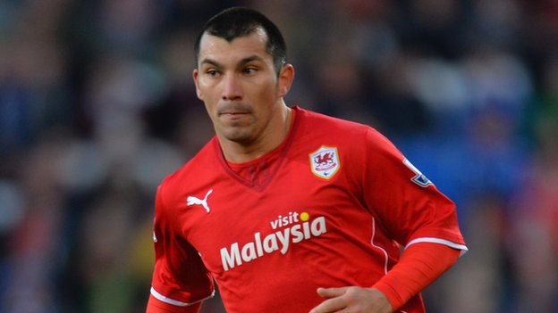 Gary Medel in action for Cardiff City