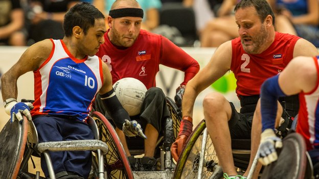 Great Britain wheelchair rugby team beat Denmark