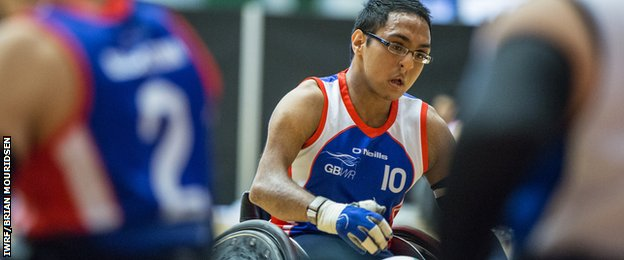 Great Britain wheelchair rugby player Ayaz Bhuta