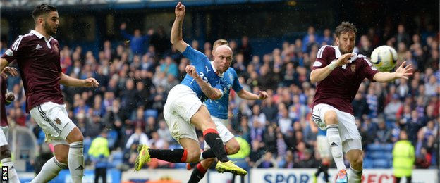 Nicky Law scores for Rangers against Hearts