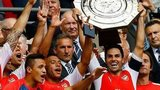Arsenal celebrate winning the Community Shield after beating Manchester City