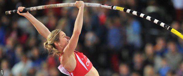 Stanford watched Wales' Sally Peake win pole vault silver at Glasgow 2014