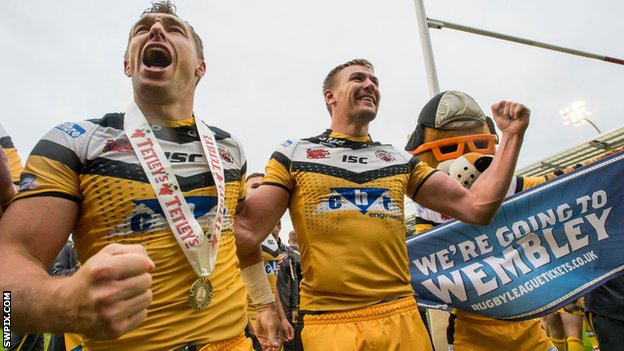 Castleford players celebrate