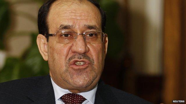 Nouri Maliki said Iraq's new president had violated the constitution