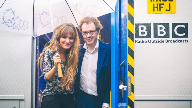 Nicola Benedetti and EIF director Jonathan Mills in