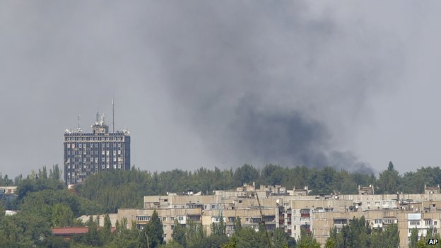 Donetsk under shell fire, 10 Aug 14