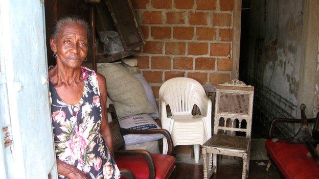 Marta Perez in her home
