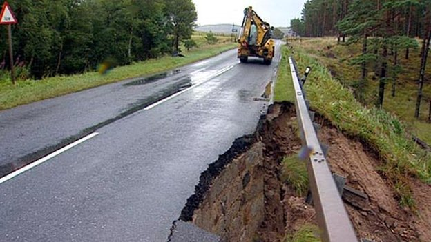 Part of the A938 at Duthil near Carrbridge