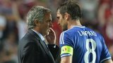 Chelsea manager Jose Mourinho (left) and former Blues midfielder Frank Lampard