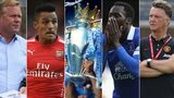 Ronald Koeman, Alexis Sanchez, Premier League trophy, Romelu Lukaku and Louis van Gaal