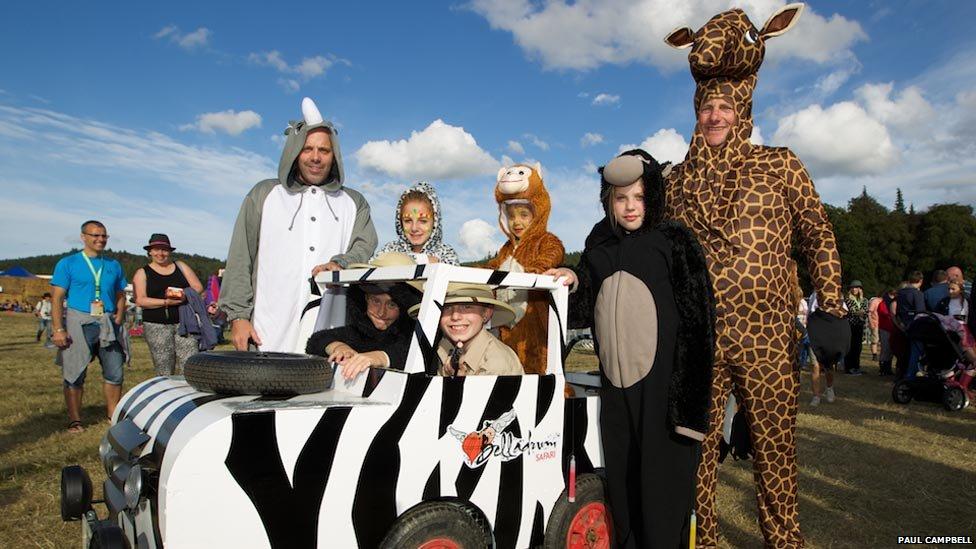 Belladrum Festival revellers in animal costumes