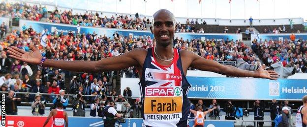 Mo Farah at the European Athletics Championships 2012