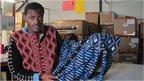 Designer with a jumper
