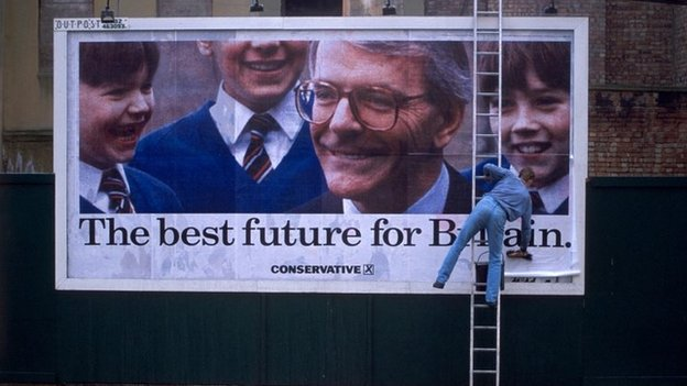 An election poster from 1992