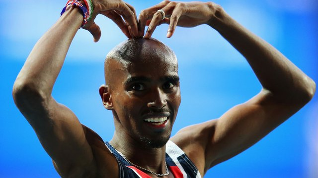 British long-distance runner Mo Farah