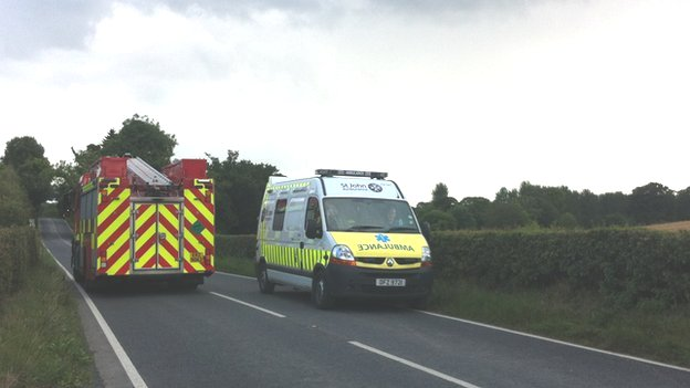 A major rescue effort was mounted in County Down