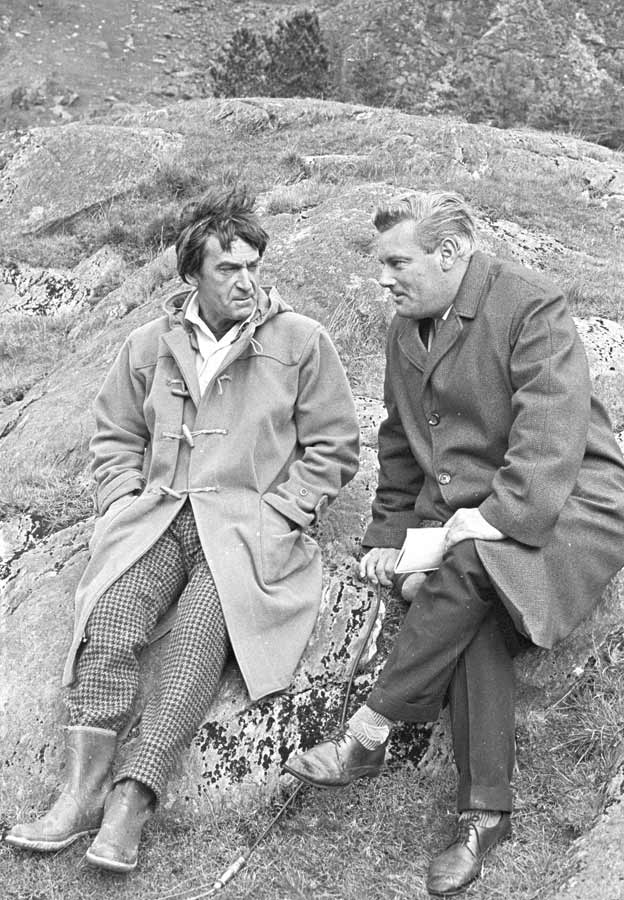 Patrick Troughton as Dr Who and Glyn Owen of BBC Wales