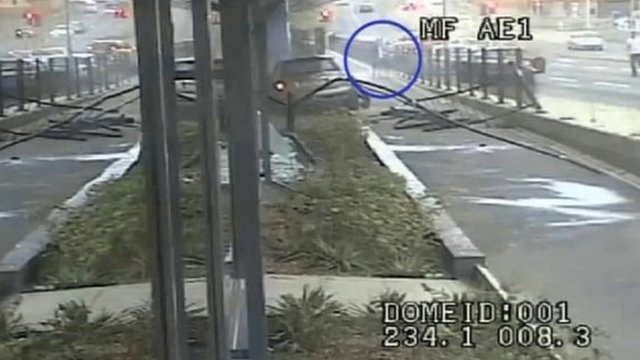 CCTV of the accident