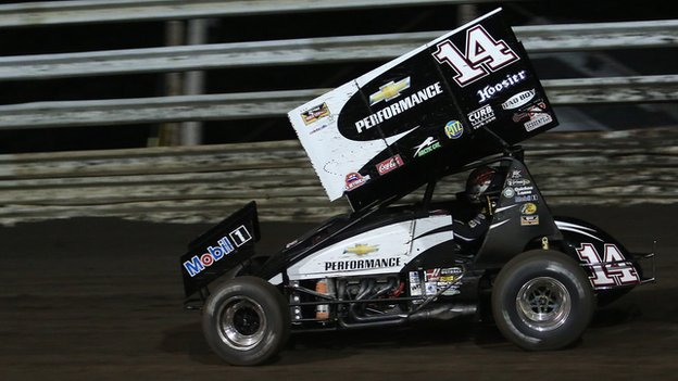 Tony Stewart's sprint car races in Iowa in 2013.