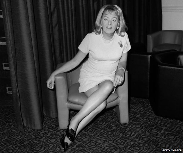 Christine Jorgensen (1927 - 1989), formerly George Jorgensen. An ex- GI and first ever person to undergo a sex-change operation, pictured in the 1970s